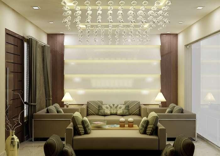 Living Room Wall Decoration Design Effect Drawing - Lentine Marine ...