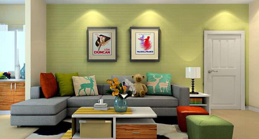 Decorate Living Room Green Walls