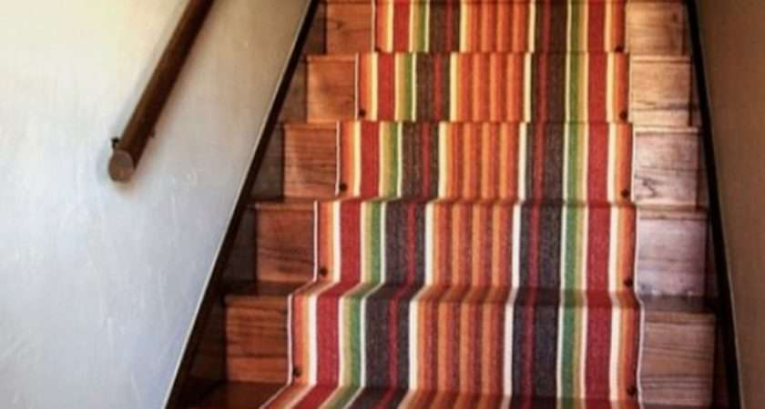 Decorate Your Stairway Striped Carpet