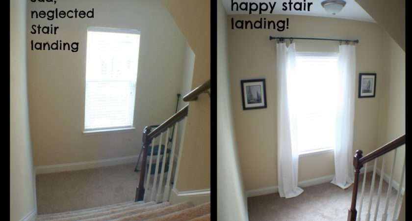 Decorated Stair Landing Hanging Tip Happier