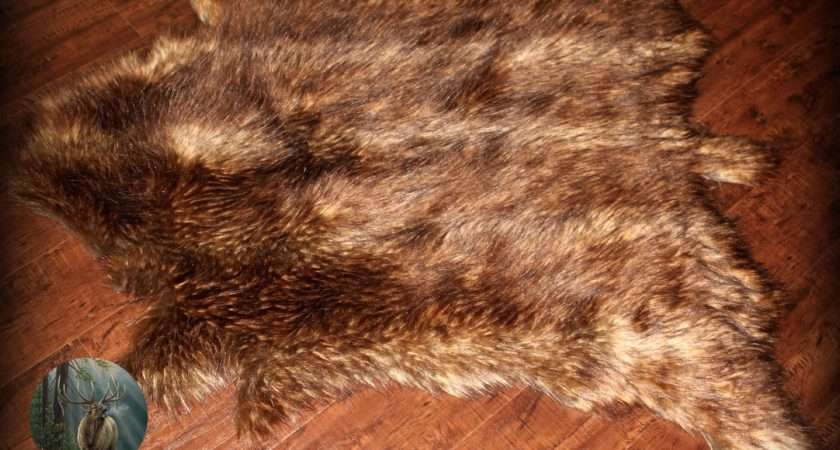 Decorating Gorgeous Faux Animal Skin Rugs Living Room