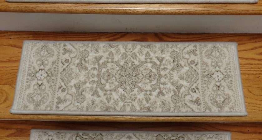 Decorating Pattern Carpet Stair Treads Grey