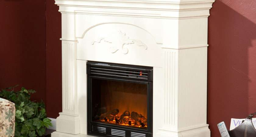 Decoration Cool White Sears Electric Fireplace Decor