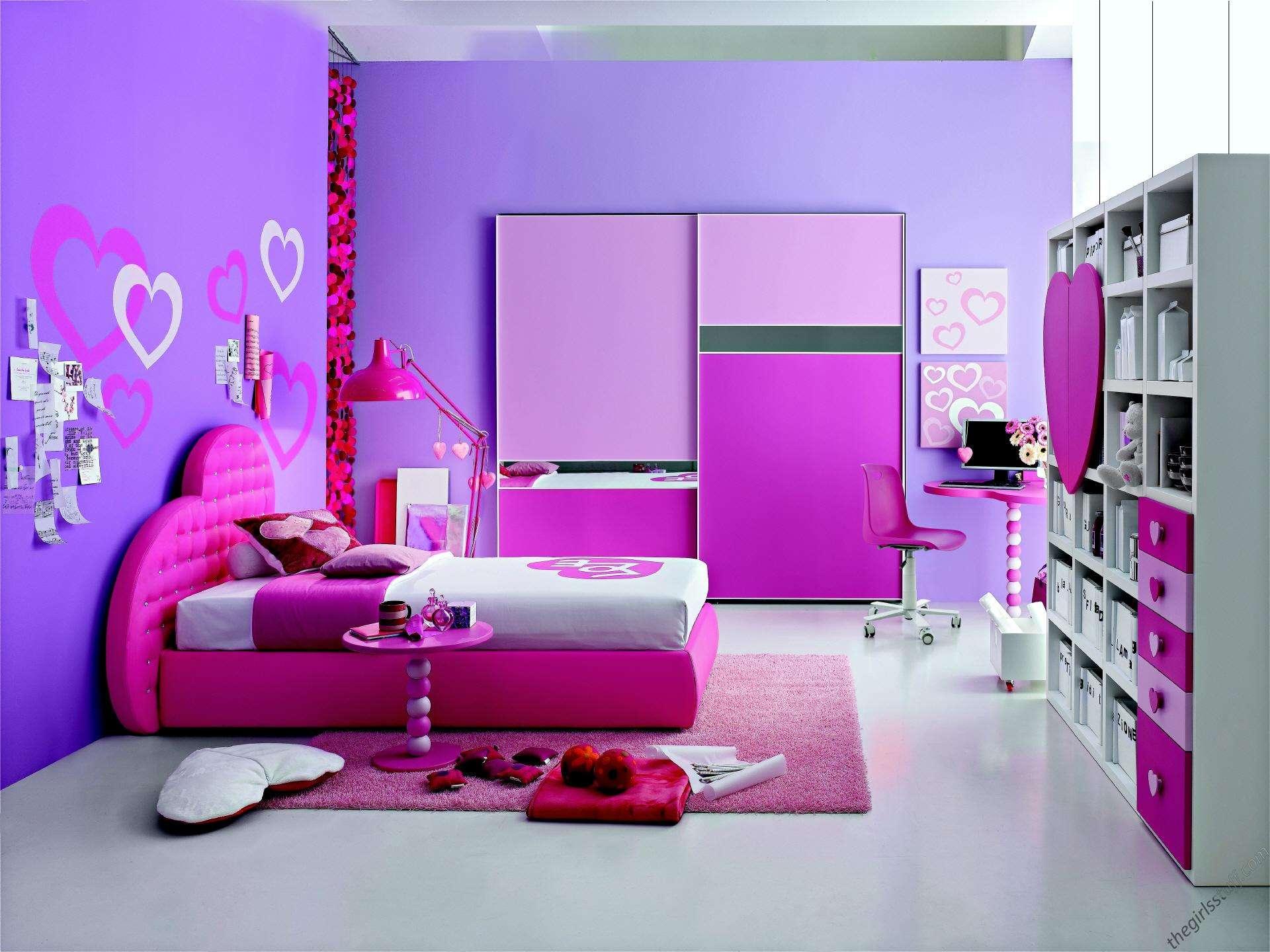 Decoration Inspiration Endearing Teenage Girls Purple Bedrooms Color