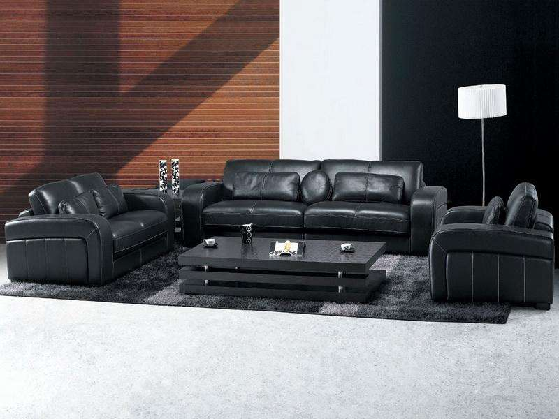 Decoration Living Rooms Leather Furniture Decorating Ideas