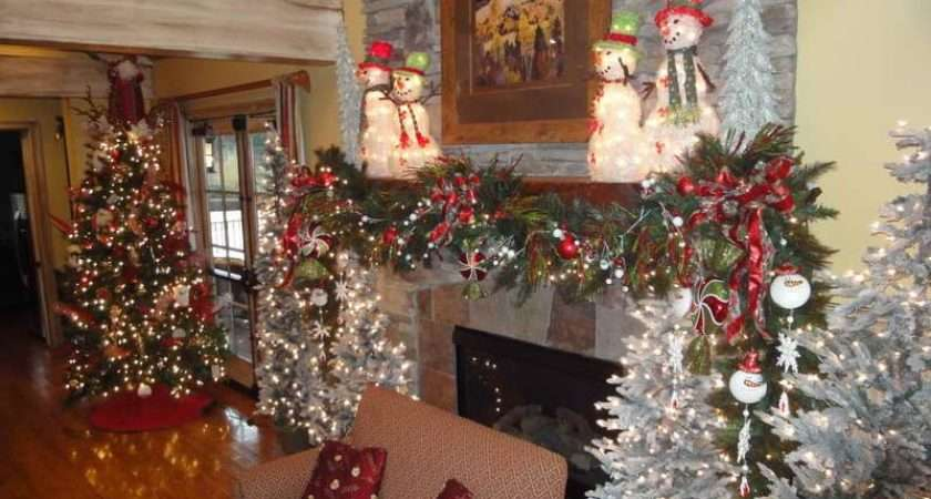 Decorations Outside Christmas Decorating Fireplace Mantels