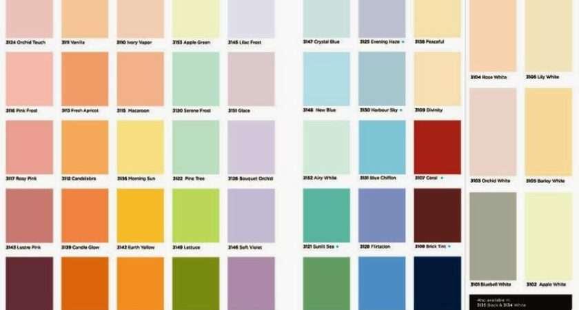 Decorative Crown Paint Colour Chart Lentine Marine