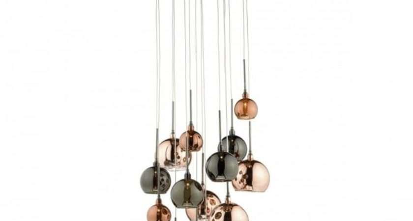 Decorative Light Cluster Pendant Copper Shades