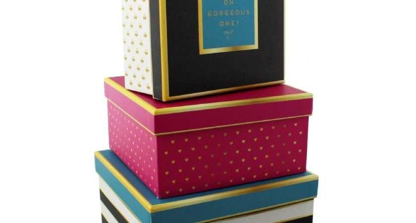 Decorative Storage Boxes Set Three Office Home