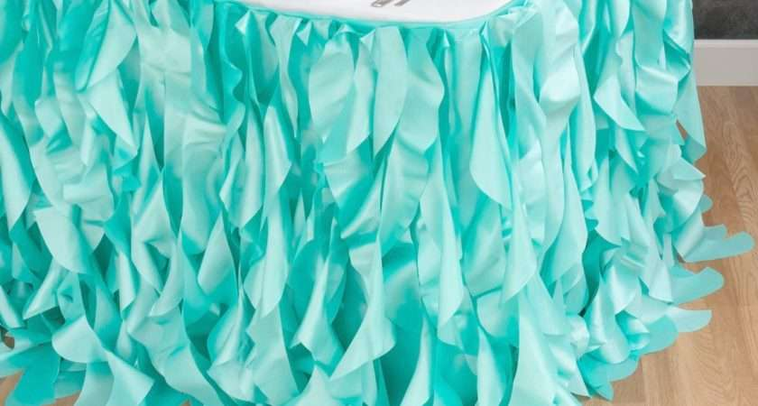 Delightful Make Table Skirts Diy Skirt Ideas