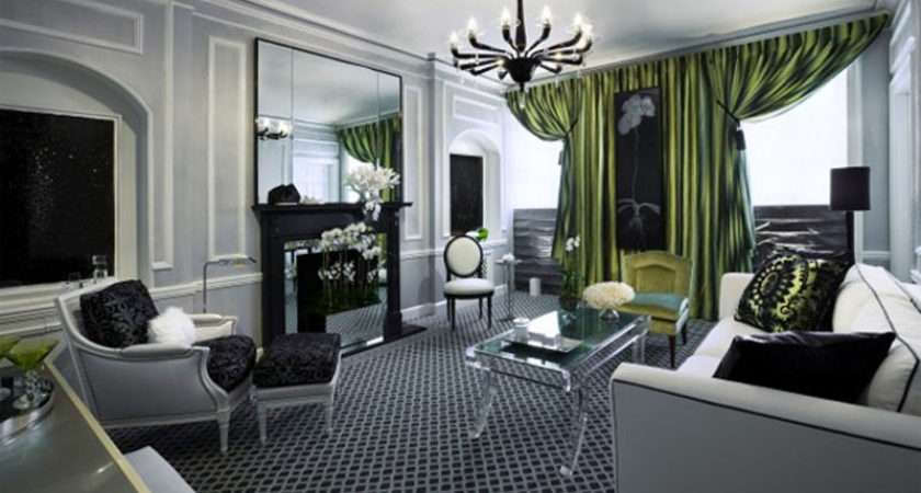 Deluxe Gray Green Living Room Decoration