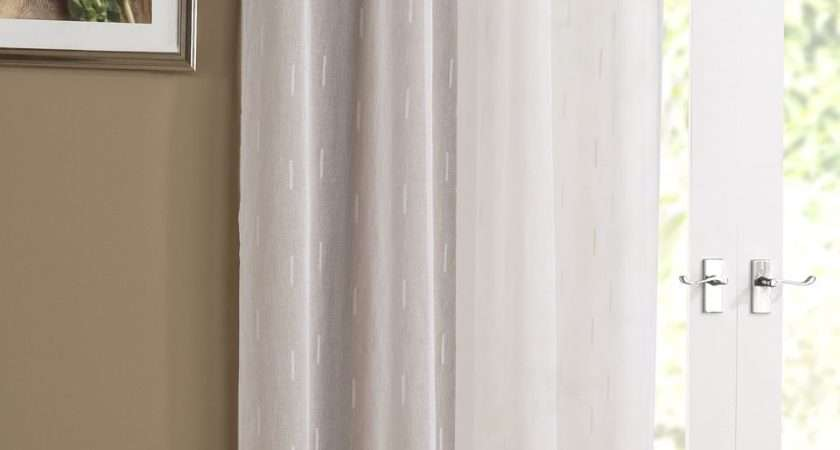Denver Embroidered Voile Curtain Panel Ready Made Slot Top