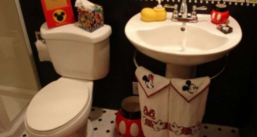 Design Fun Bathroom Ideas Kids Mickey Mouse