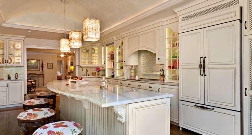 Design Marble Counter Tops Lighting Storage Plates Breakfast