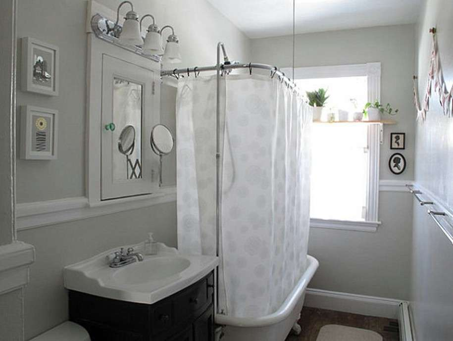 Designer White Shower Curtains Bathroom