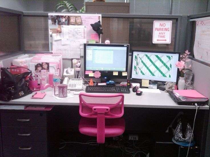 Desk Decorating Ideas Workspace Cute Cubicle Work