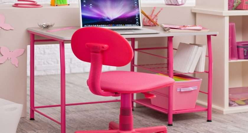 Desks Girl Pink Teen Desk Chair Interior