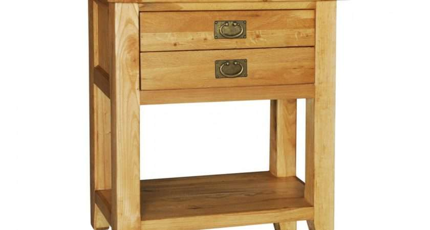 Details Chester Solid Oak Furniture Small Console Hall Table
