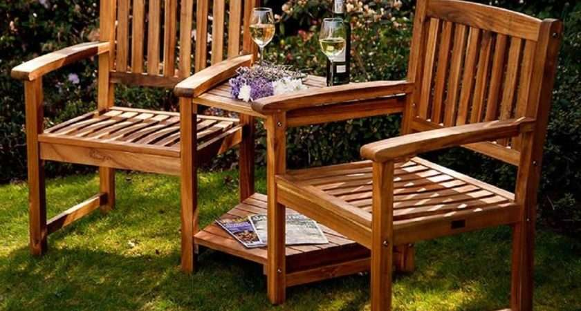 Details Companion Set Love Seats Garden Corner Bench