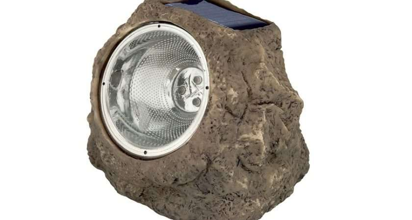 Details Luxform Andes Solar Spot Light Rock Spotlight