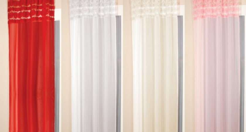 Details One Voile Curtain Panel White Cream Pink Red