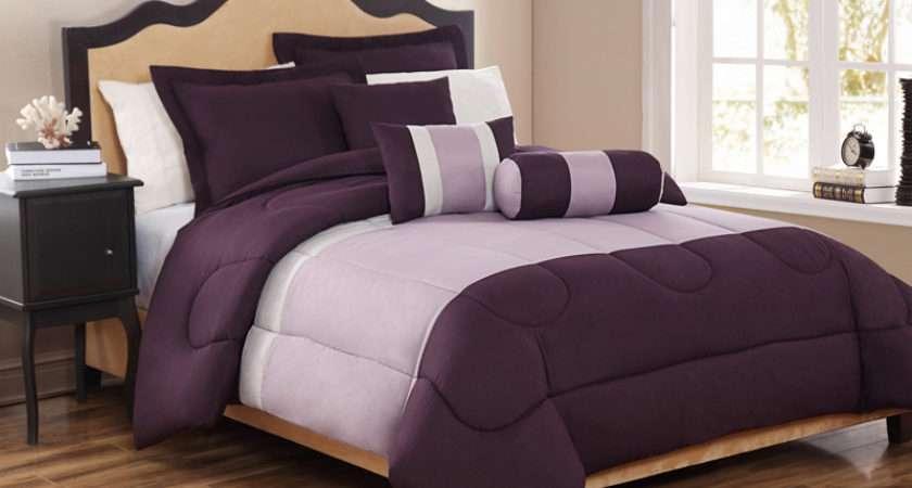 Details Piece King Tranquil Plum Lavender Comforter Set