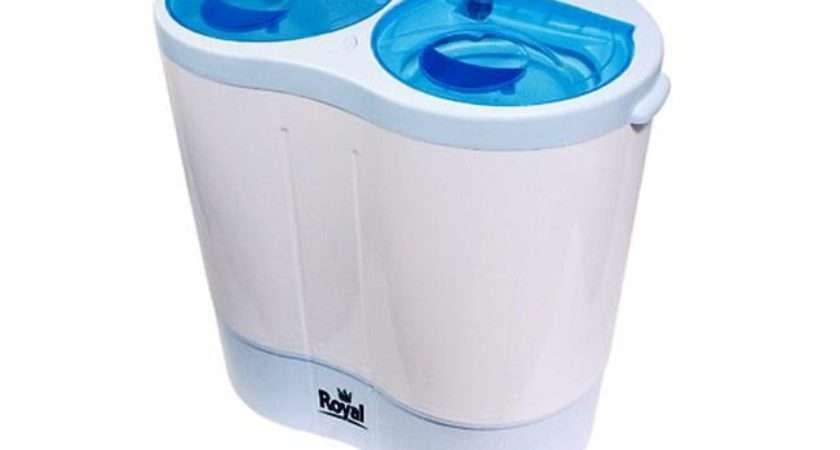 Details Royal Portable Twin Tub Washing Machine Outdoors