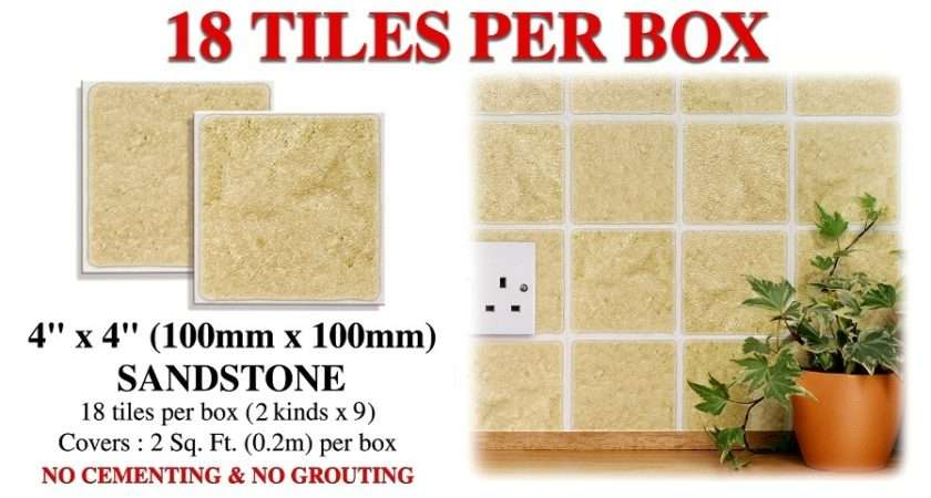 Details Stone Stick Splashback Wall Tiles Stickers