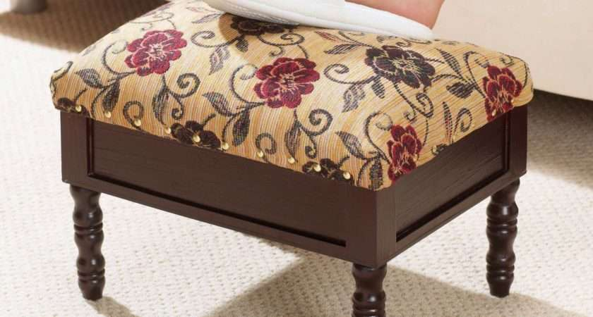 Details Storage Footstool Tapestry Handy