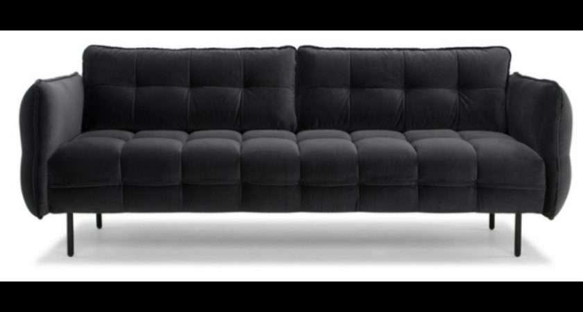 Dexter Sofa Dark Grey Velvet Sofas Seating