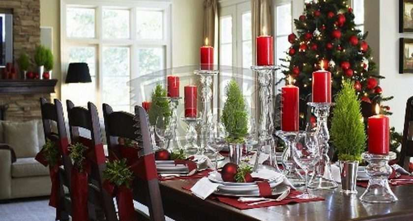 Dining Room Christmas Kitchen Table Decorating Ideas