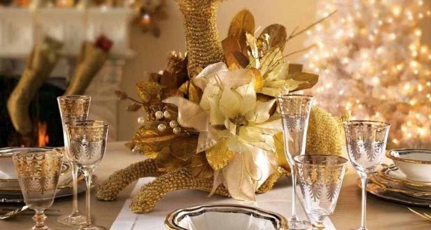 Dining Room Elegant Christmas Table Decoration Ideas