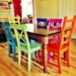 Dining Room Inspiring Colorful Sets Kitchen
