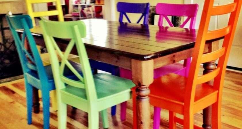 Dining Room Inspiring Colorful Sets Kitchen
