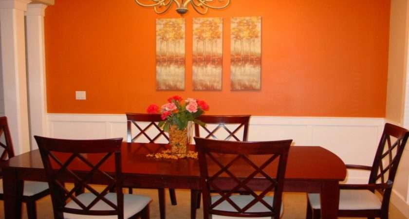 Dining Room Paintings Orange Accent Wall Burnt