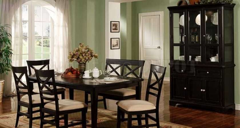 Dining Room Set Hutch Black Color Ideas Home