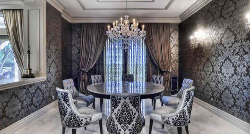 Dining Rooms Damask Wall Patterns House
