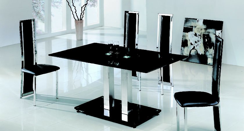 Dining Table Chairs Glass Modenza Furniture