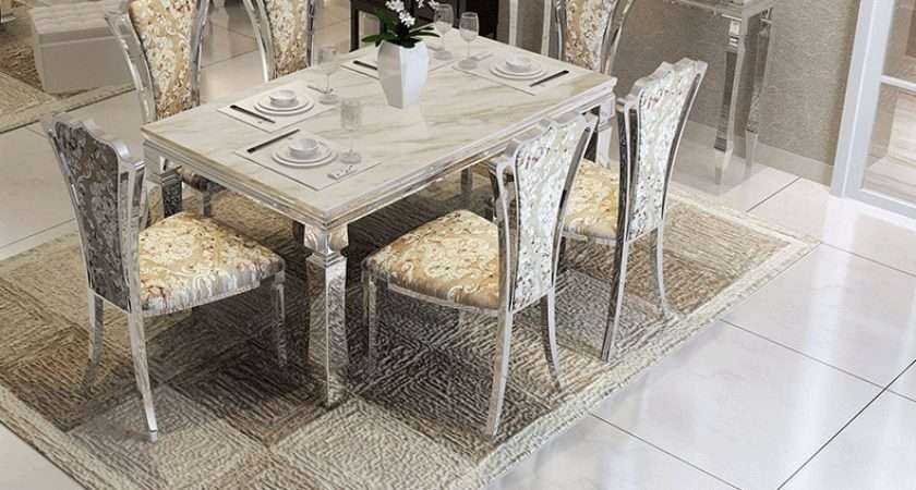 Dining Table Sets Marble Chairs Modern