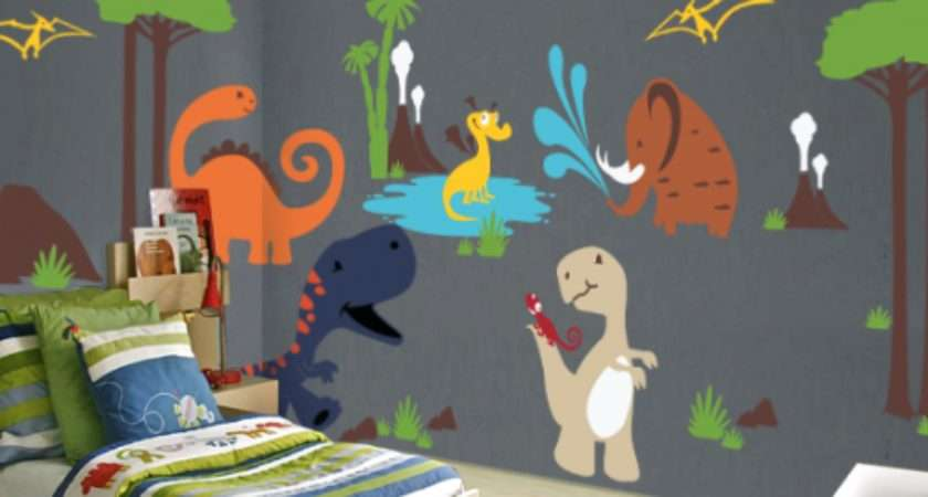 Dinosaur Land Playroom Wall Decal Kids Nursery