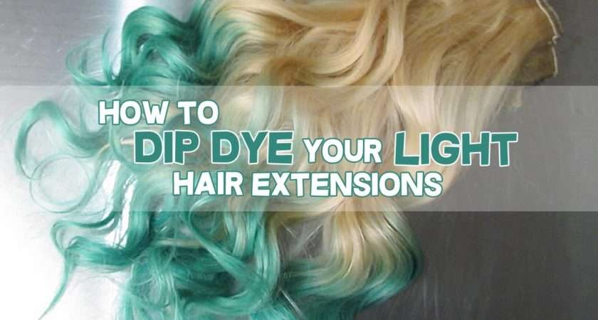 Dip Dye Your Blonde Hair Extensions Luxury