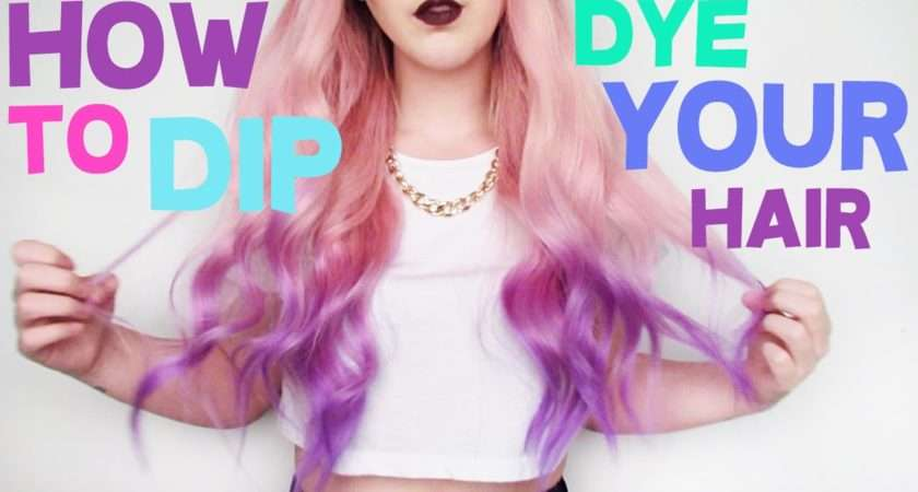 Dip Dye Your Hair Tashaleelyn Youtube