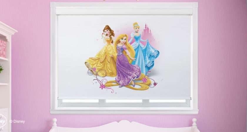 Disney Princess Cordless Roller Custom Blinds Shades Shutters