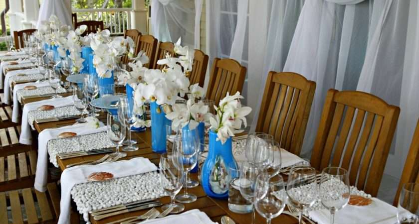 Displaying Elegant Beach Party Decorations