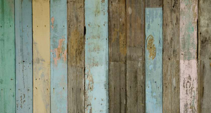 Distressed Wood Panels Wallpapergrafico Custom Wall Coverings