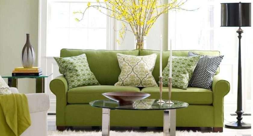 Divine Sage Green Living Room Decorating Design
