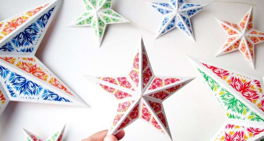 Diy Christmas Star Ornaments Holiday