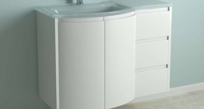 Diy Cooke Lewis High Gloss White Curved Vanity