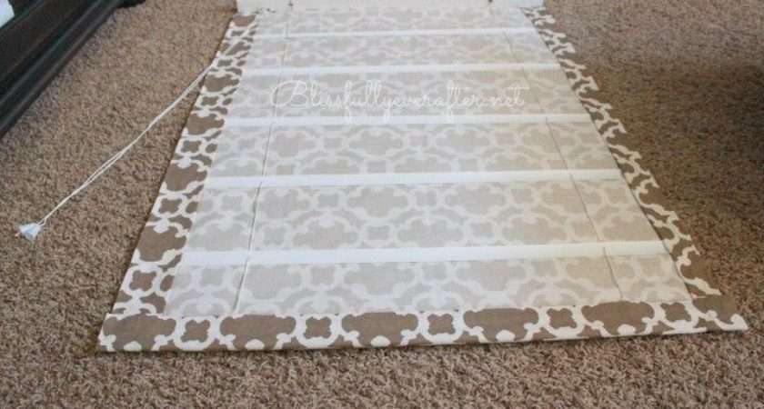 Diy Curtains Easy Roman Blinds Using Venetian Fabric More
