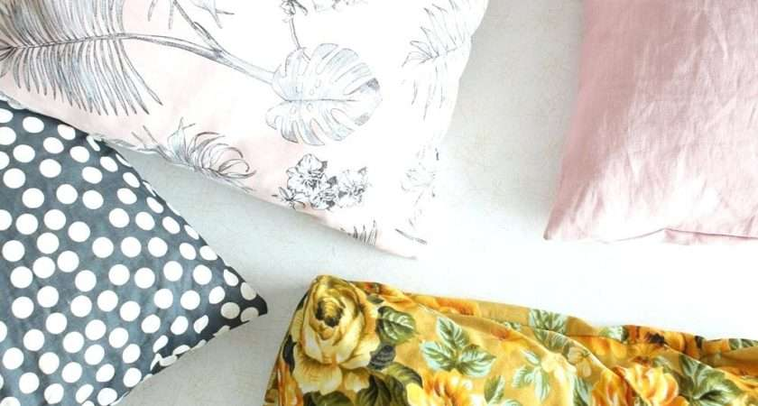 Diy Cushion Covers Easy Sew Throw Pillow Tutorial